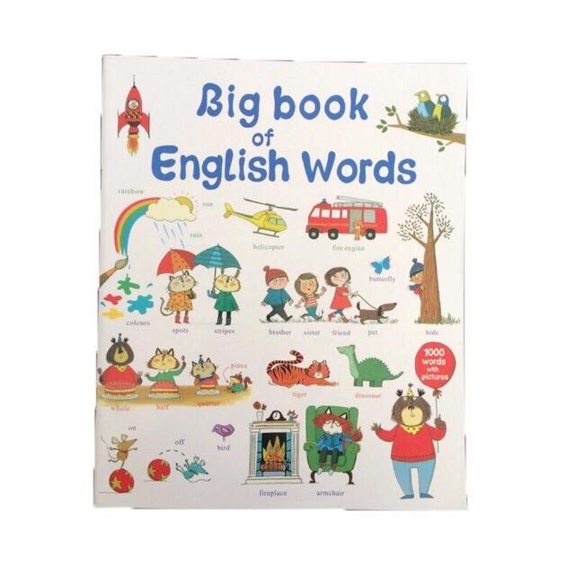 Big Book Of English Words Learning Book For Kids By Hello Mr Shao.