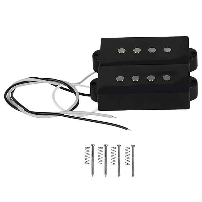 Pb P Bass Pickup Humbucker Pickup For 4 String P Bass Replacement Bass Guitar Part, Black