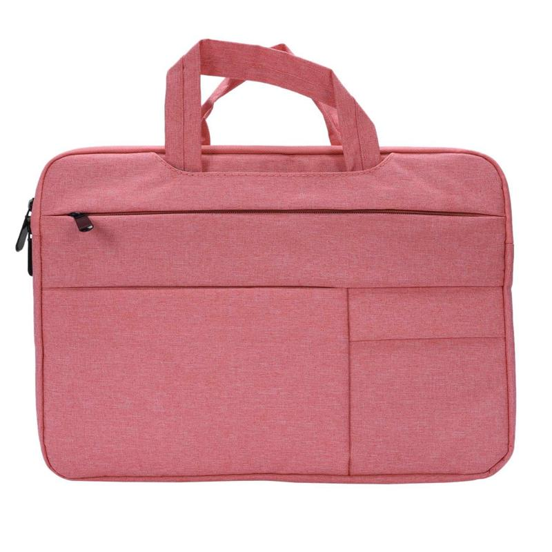 Laptop Bag12-13.3 Inch Waterproof Notebook Bag For Macbook Air Pro 13 Computer Shoulder Handbag Briefcase Bag(Pink)