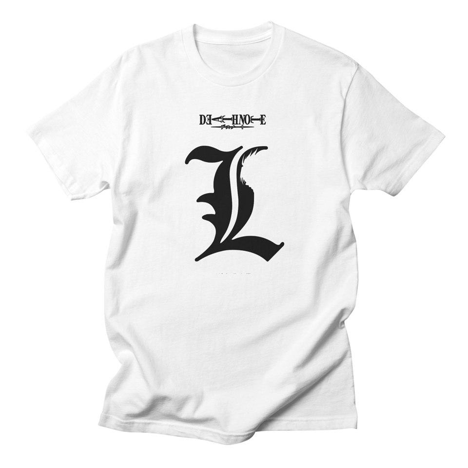 T-shirts Death Note T Shirt I Just Need Your Name Letters Print Mans T-shirt Men Anime Clothing Comfy 100 Cotton Hip Hop Tee Shirt Homme