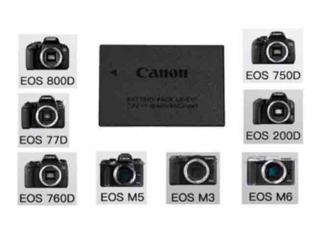 Canon LP-E17 battery for camera 750D/760D/200D/800D/M3/M5/M6