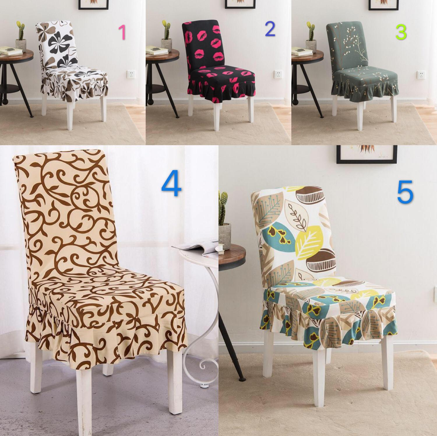 High Quality Fabric Sunflower Print Elastic Knitted Dining Chair Cover Restaurant Stool Wrap By Cag Shop.