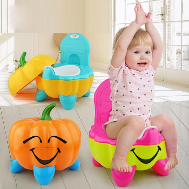 2891bb0b62d Baby Potty Toilet Bowl Cute Pumpkin Cartoon Training Pan Toilet Seat  Children Bedpan Portable Urinal Comfortable