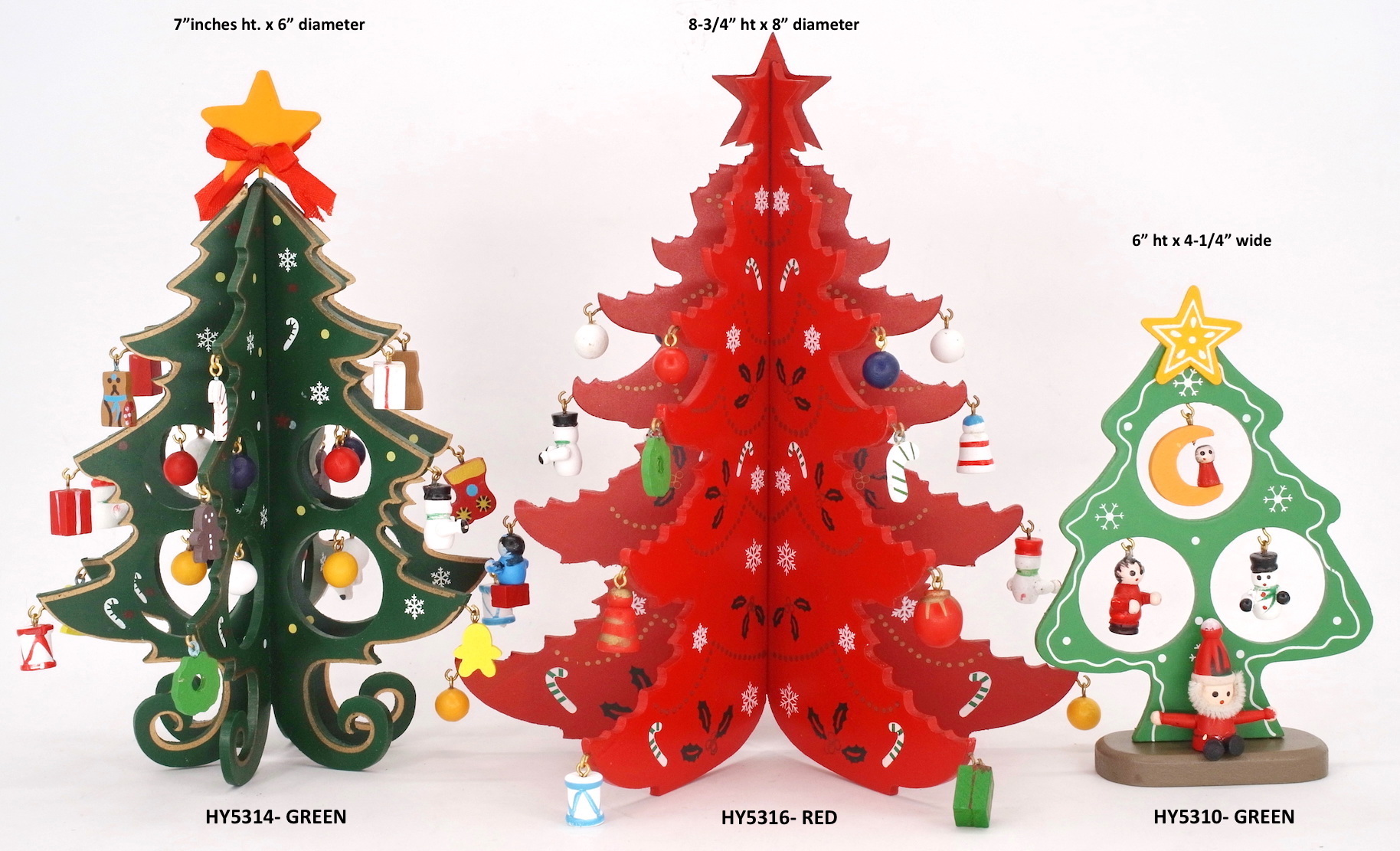 Christmas Tree Small Wooden Tabletop 6 Inch Christmas Tree Cutout Decor With Wooden Ornaments Lazada Ph