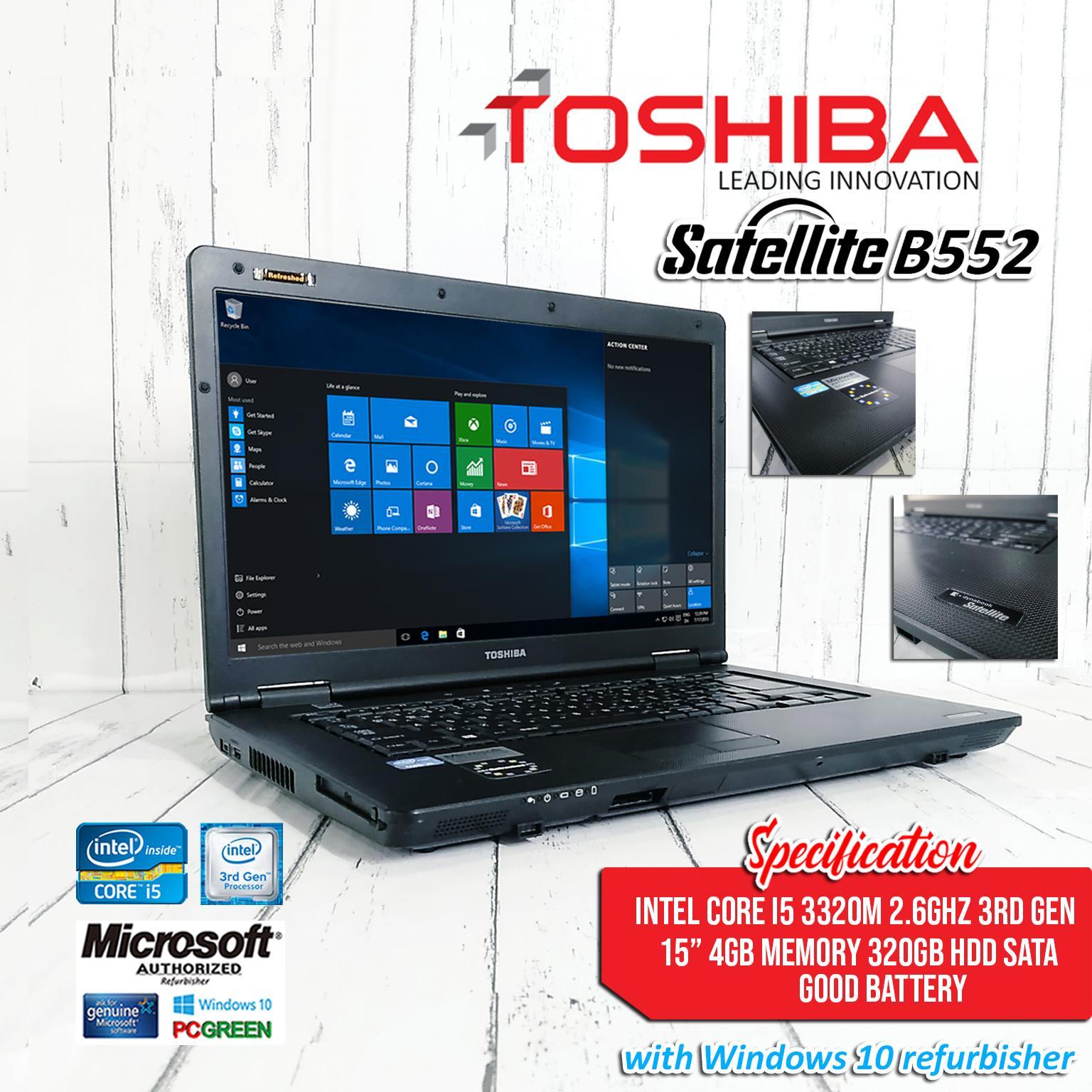 LAPTOP Toshiba Satelite B552 core i5 3320 2.6ghz (3rd gen)