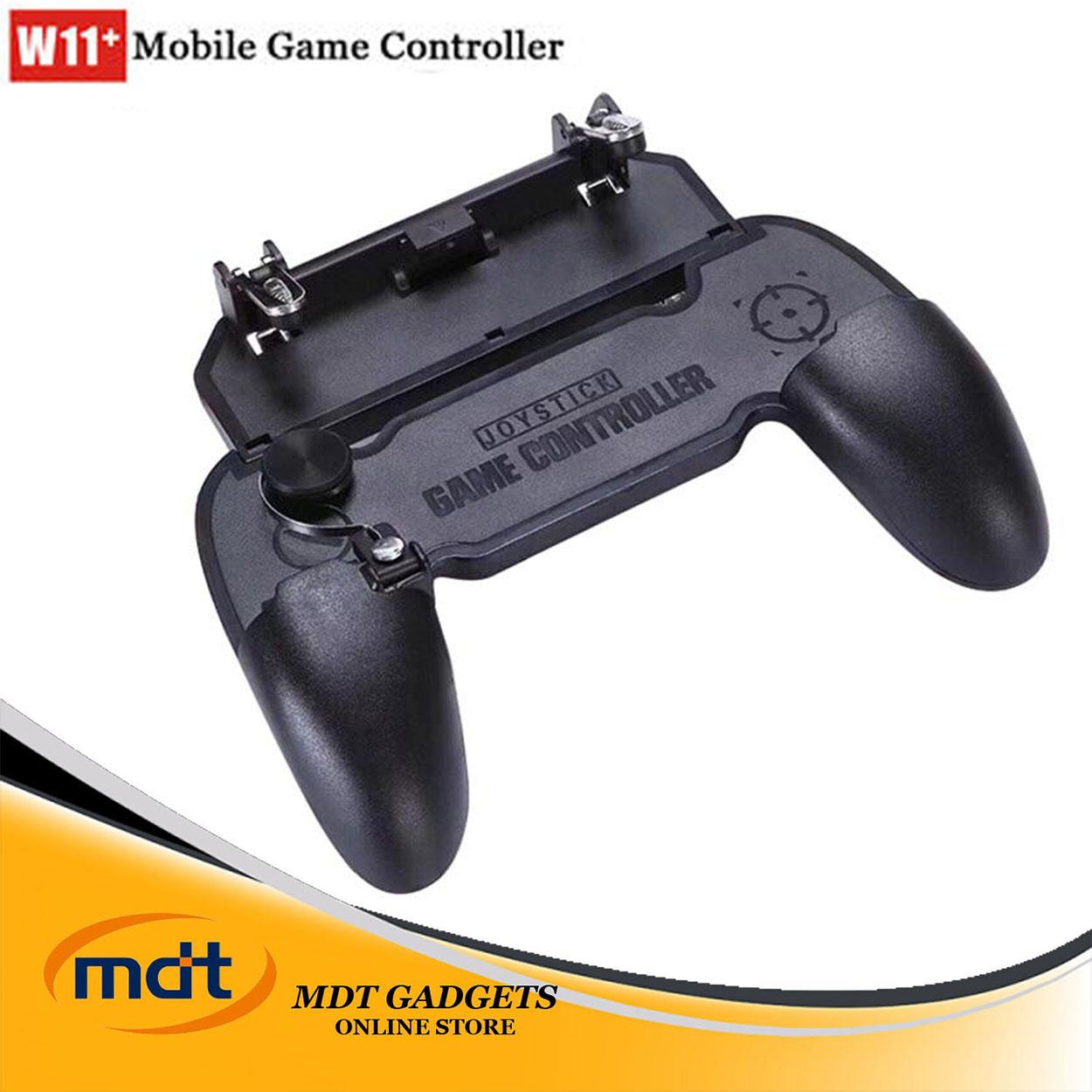 W11+ Mobile Game Controller Gaming Triggers Shooting Game Phone Grip Holder Gaming Grip Fire And Aim For 4.5-6.5inch Phones Compatible With Pubg Mobile/fortnite/rules Of Survival By Mdt Gadgets.