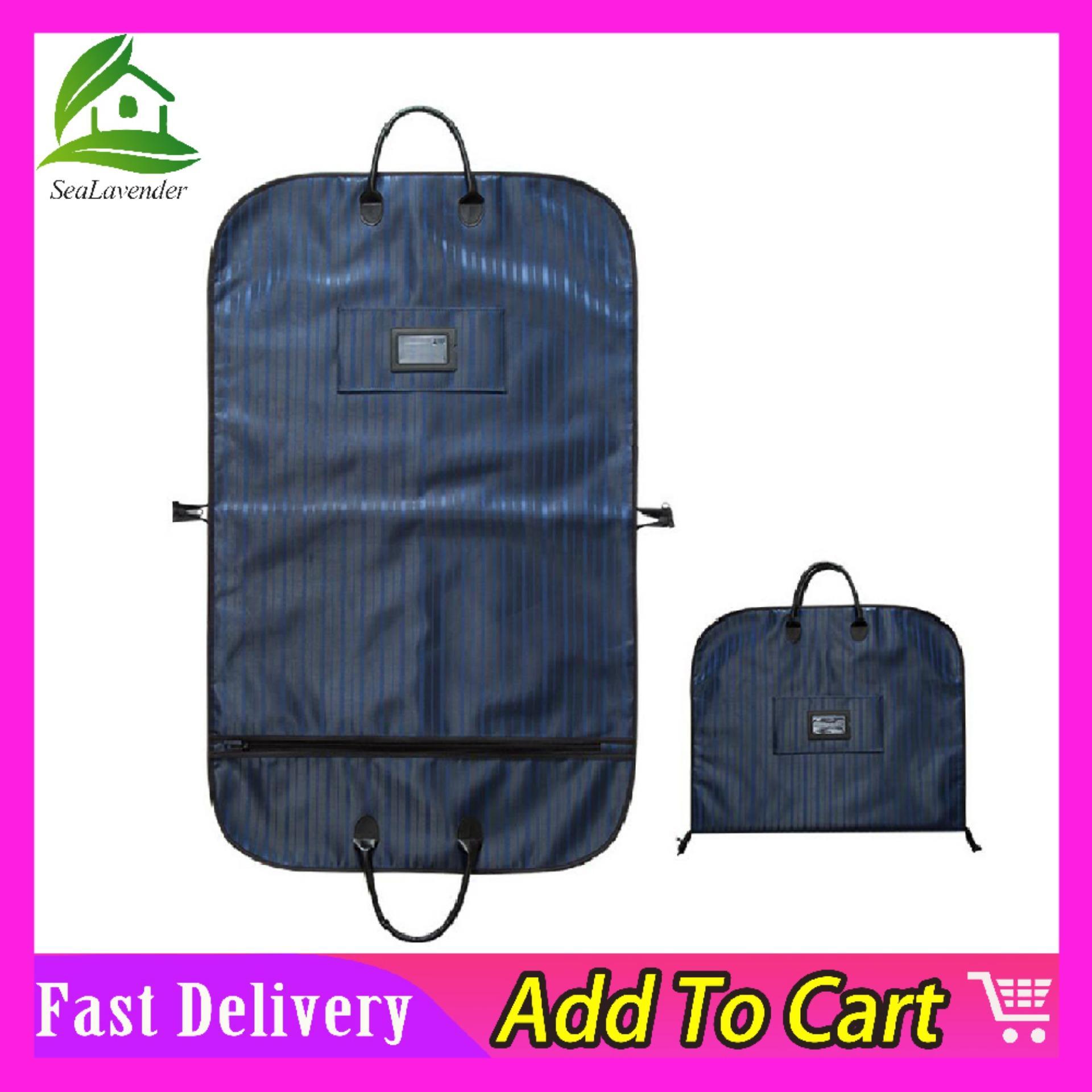 0d2e613e6f1bf SeaLavender Suit Storage Bag for Men,Oxford Cloth Air Tight Garment Bag  Fabric Breathable Travel