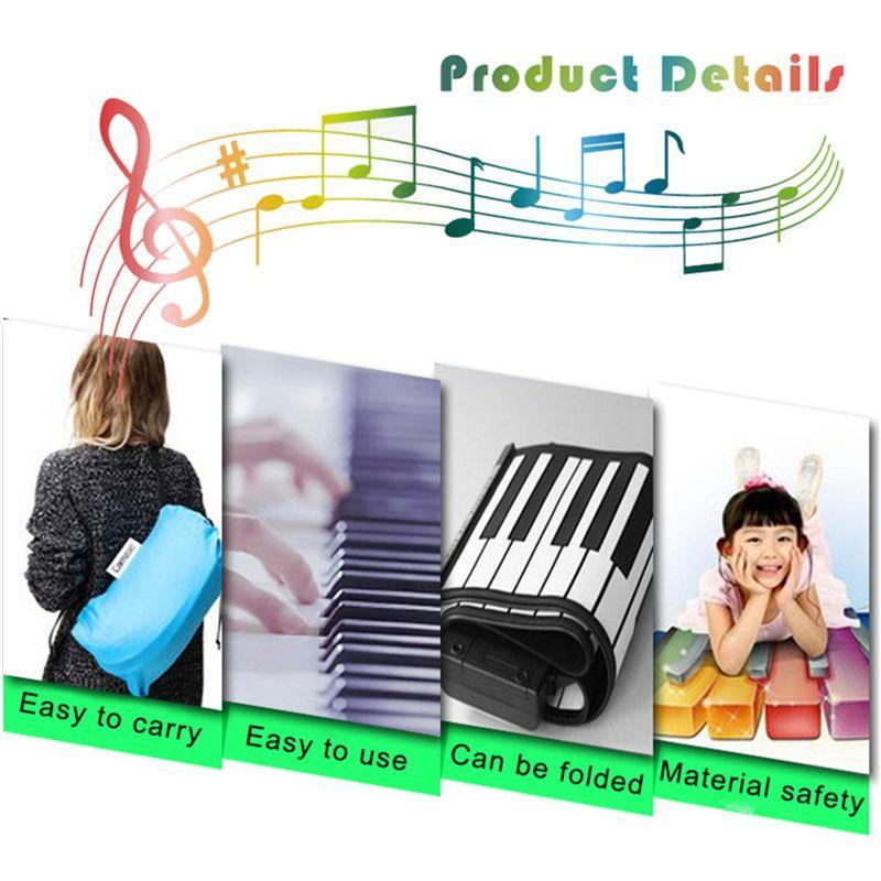 49 key speaker hand roll electronic piano portable folding electronic soft keyboard roll up the piano Malaysia
