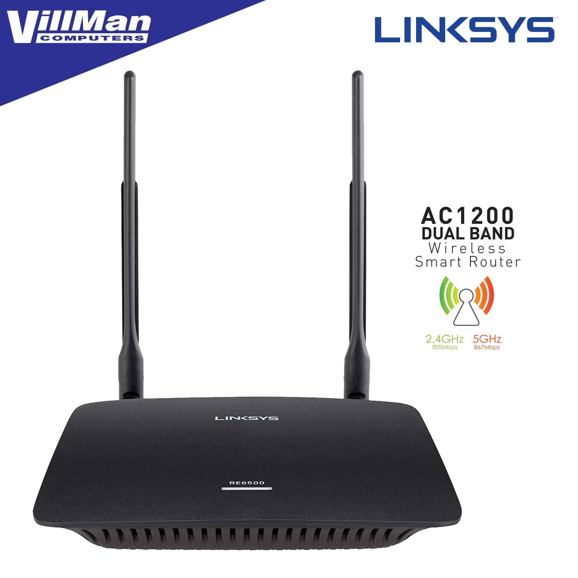 Linksys RE6500HG, Dual Band Wireless AC Range Extender 2 4 GHz and 5 GHz
