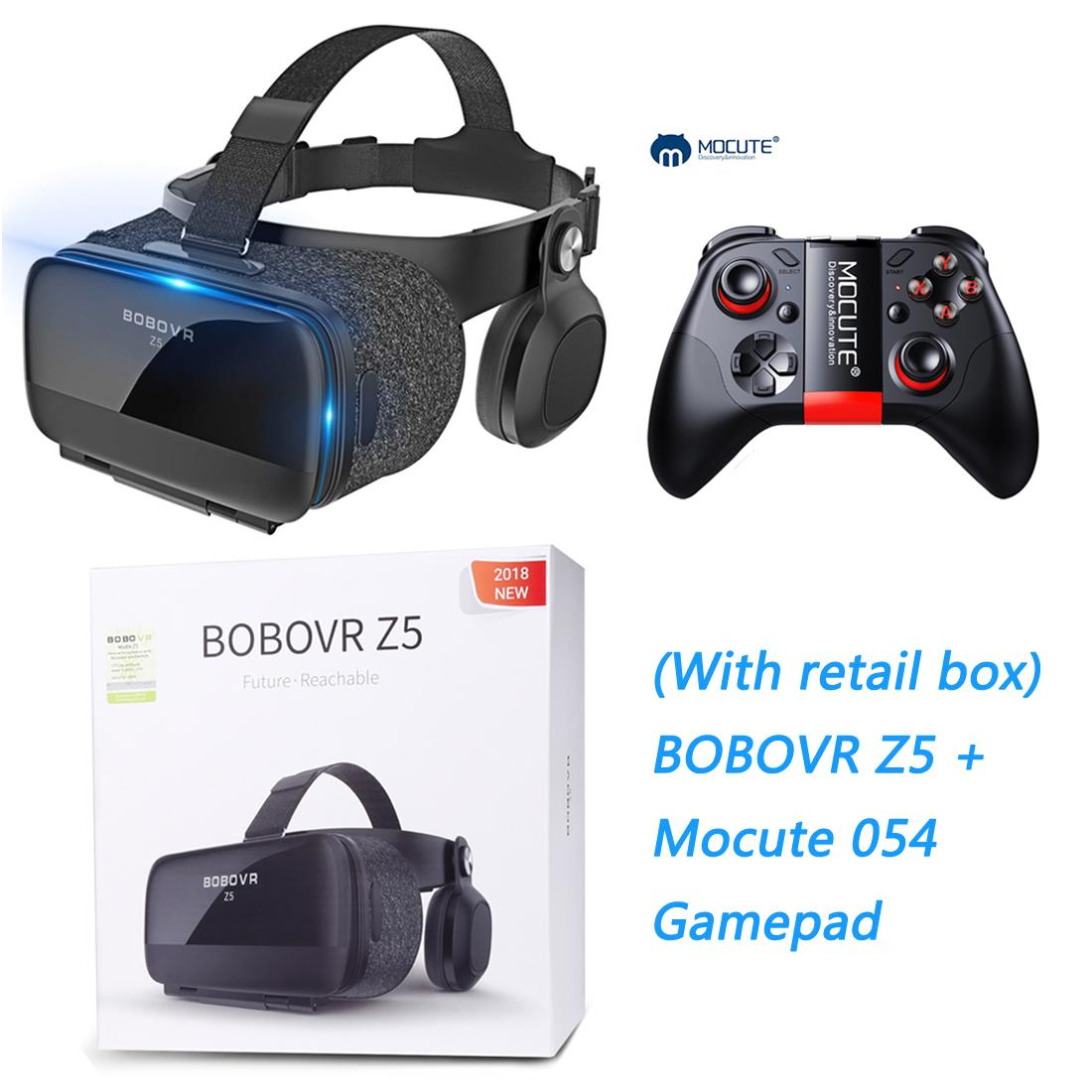 ETVR Upgraded Virtual Reality Headset VR Glasses Box with Remote Controller  for 3D Movies and VR Games - More Lighter VR Headset with Built-in Stereo