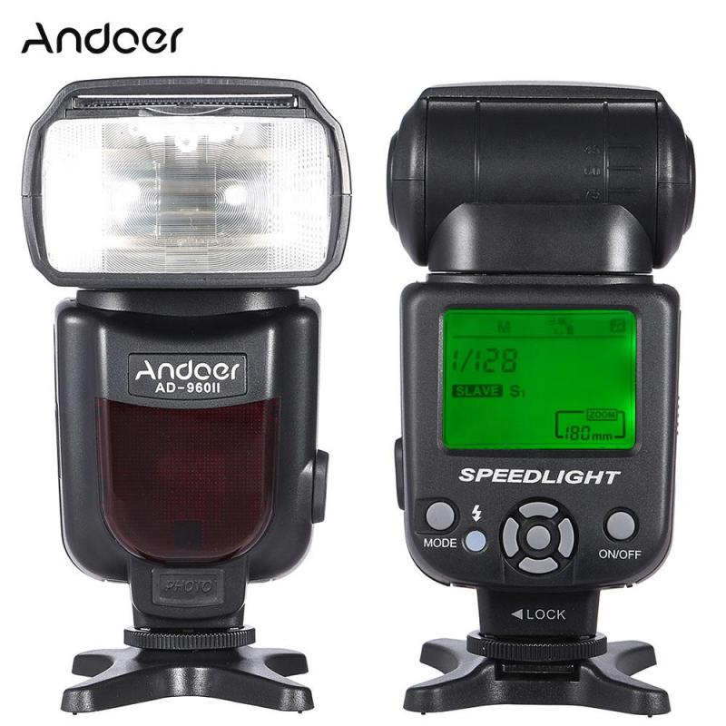 Andoer AD-960II Universal LCD Display On-camera Speedlite Flash GN54 for Nikon Canon Pentax DSLR Camera