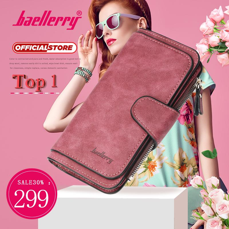 e0d5e0a062 Baellerry brand Female wallets High quality 3 fold Wallet Women Long Style lady  Purses Capacity Clutch