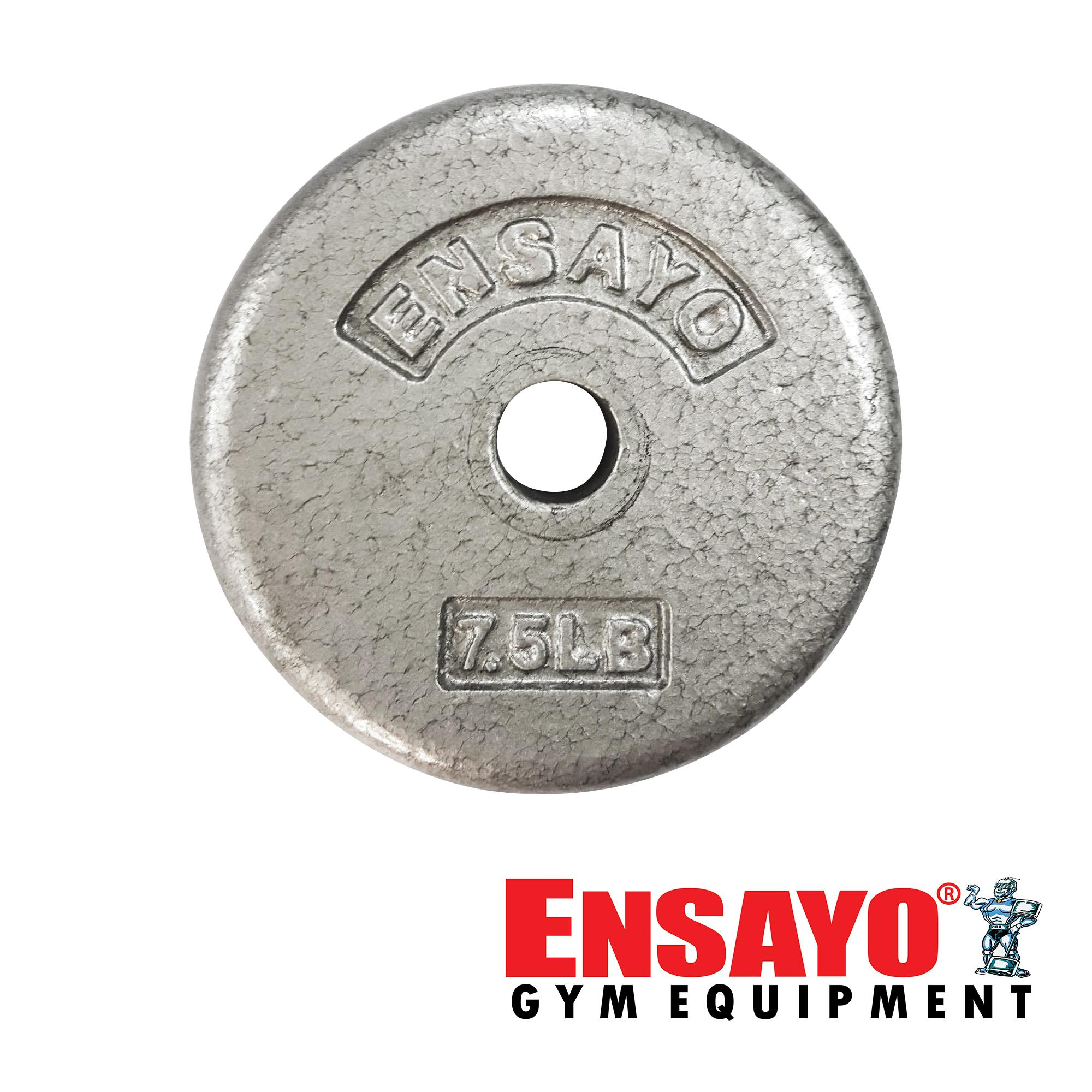 845a798d2ea ENSAYO 1-inch Iron Plate 7.5Lbs. Dumbbell Cast- Best Home Commercial