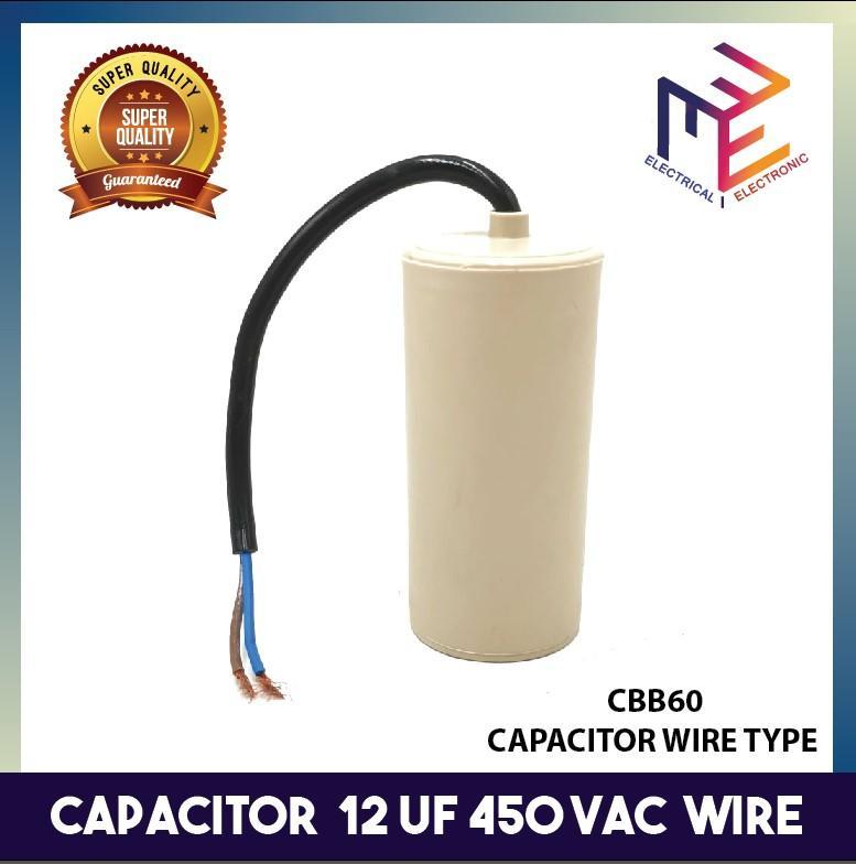 CBB60 450VAC 25uF 5/% Wired Terminal Motor Capacitor BT