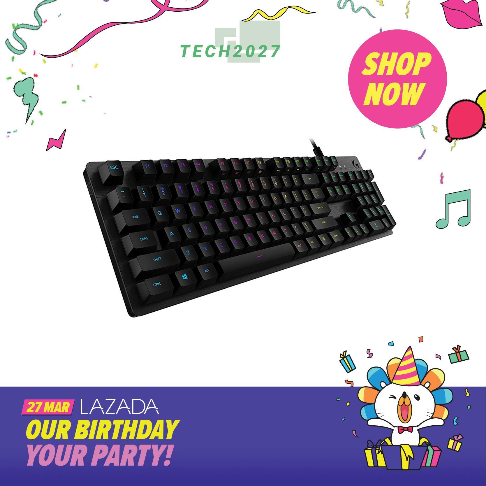001bd758efe Logitech G512 Carbon RGB Mechanical Gaming Keyboard (GX Blue Clicky)