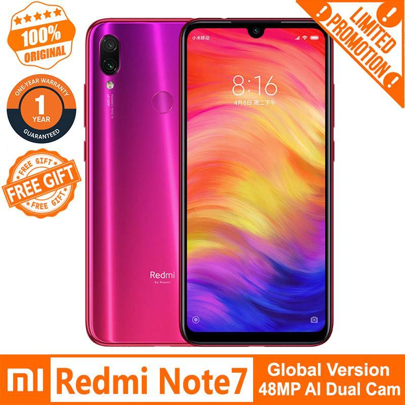 Xiaomi Redmi Note 7 (3GB+32GB/ 4GB+64GB/ 4GB+128GB) 4G LTE Smartphone  (Global Version) Free Tempered Glass