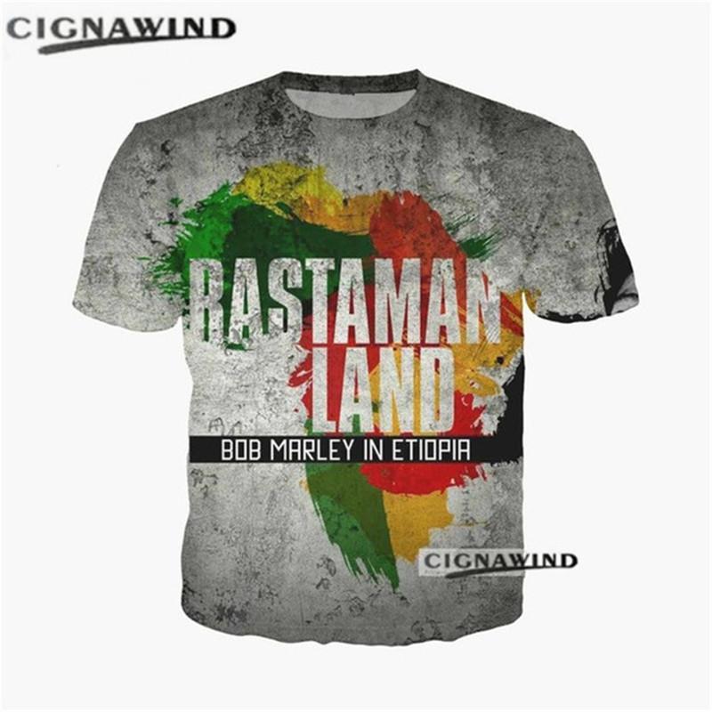 Fashion Men//Women/'s Singer Bob Marley 3D Print T-Shirt Sasual Short Sleeve