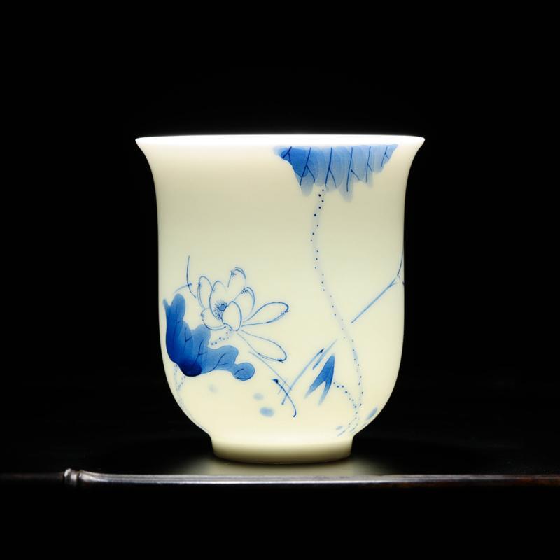Changwuju Blue And White Porcelain Water Fruit Bowl Decoration gong pan Fruit Bowl Ceramic Handmade Plate Fruit Basin Jingdezhen Disk Household