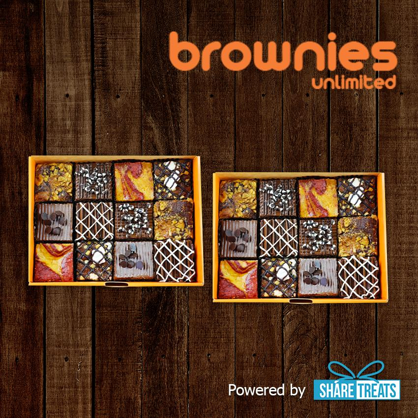 Brownies Unlimited 2pcs Of Box Of 12 Sms Evoucher By Share Treats.