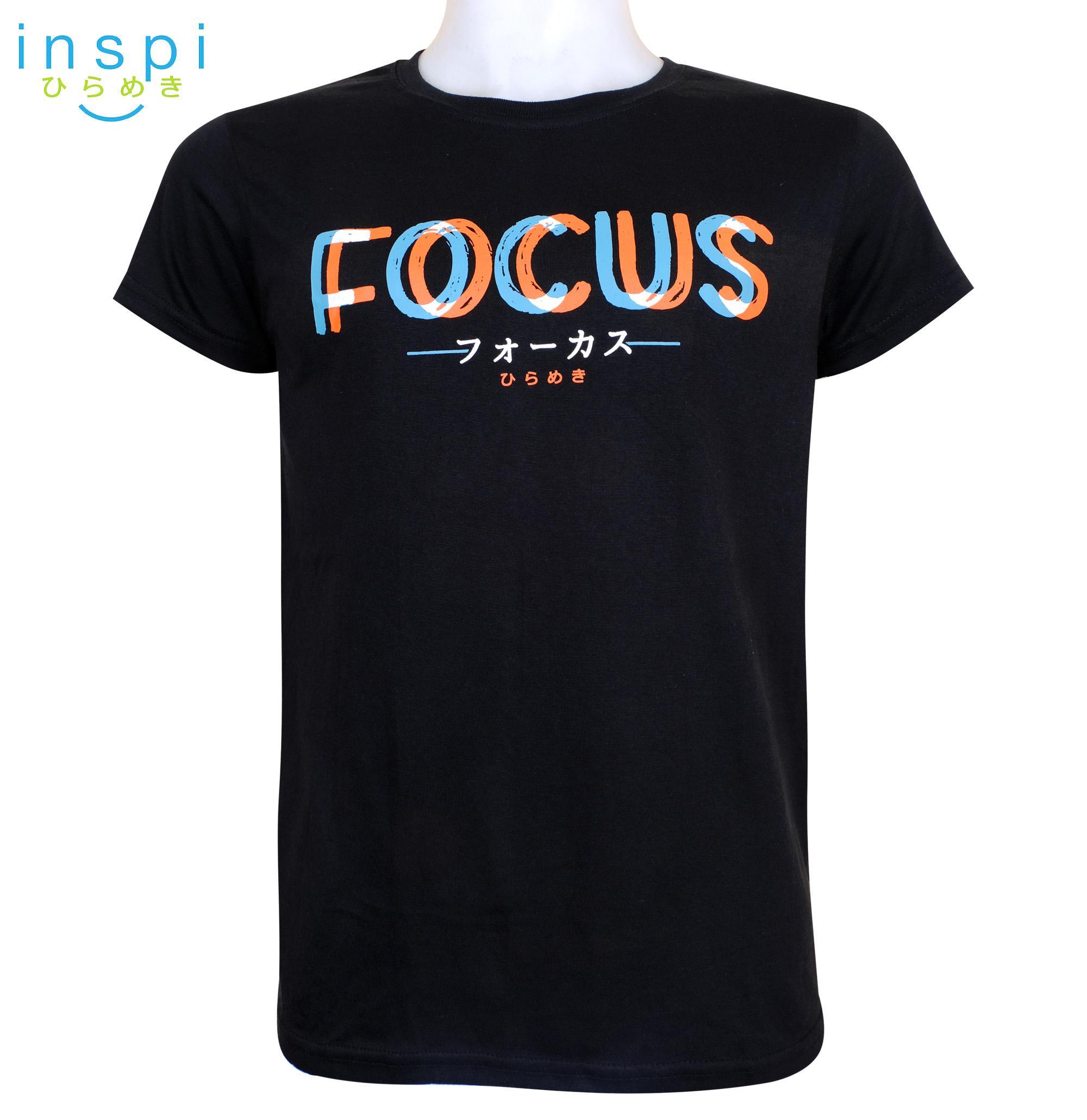 b227e2d558ff INSPI Tees Focus (Black) tshirt printed graphic tee Mens t shirt shirts for  men