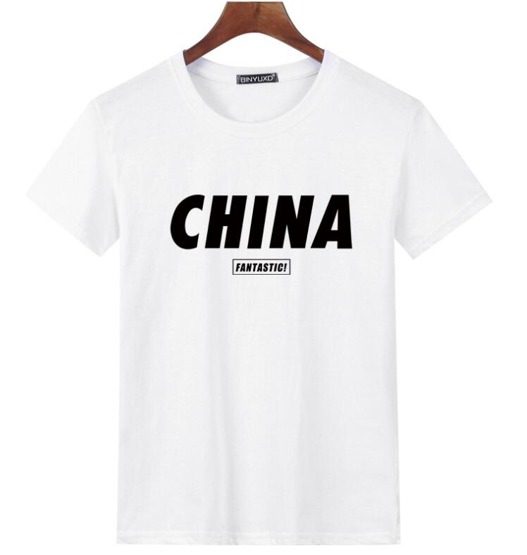 [kool Lads] Menapos Fashion Pure Cotton Apos;chinaapos; Print T-Shirt.
