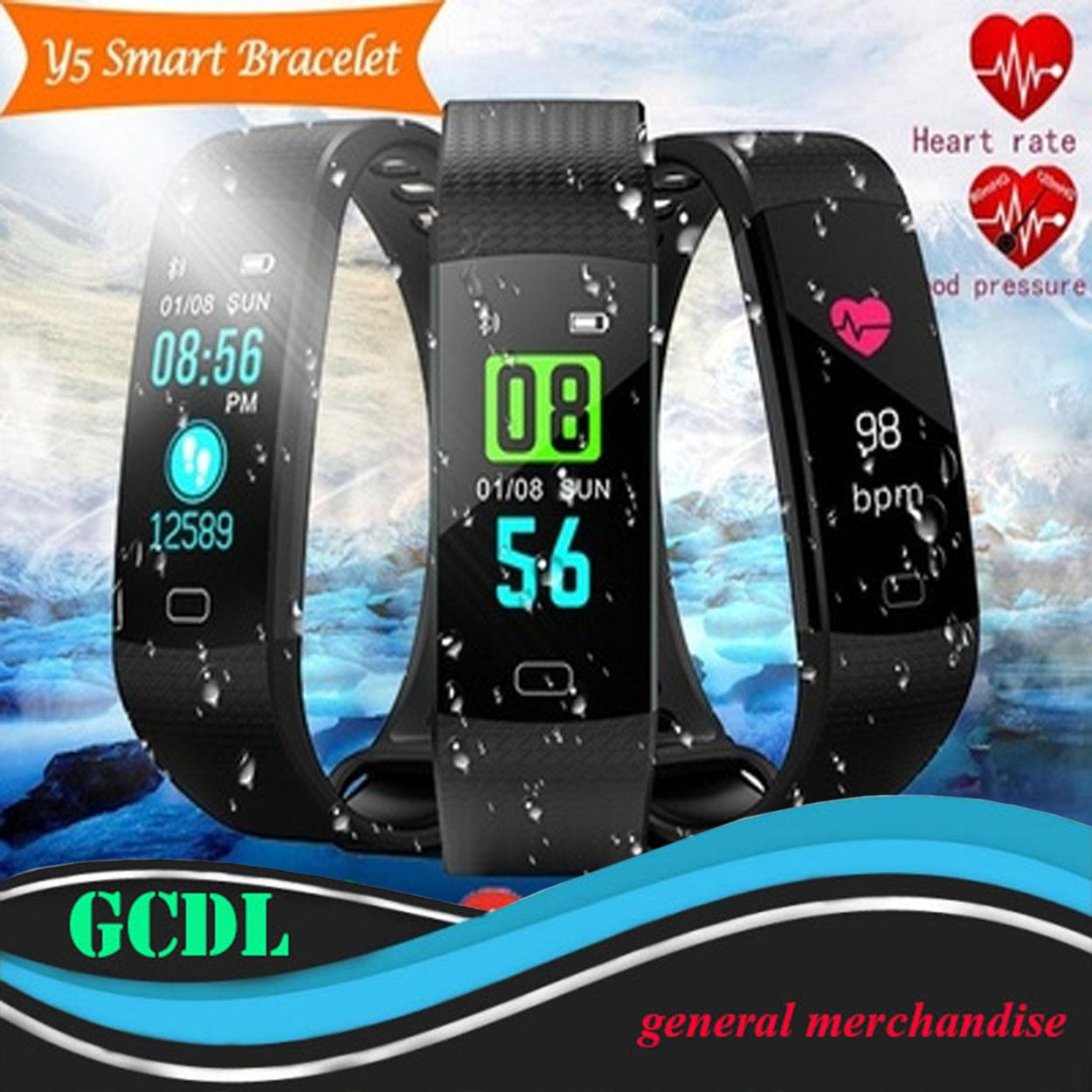 Y5 Wristband Heart Rate Blood Pressure Monitor Bluetooth Smart Watch IP67 Water Proof Fitness Tracker Smart
