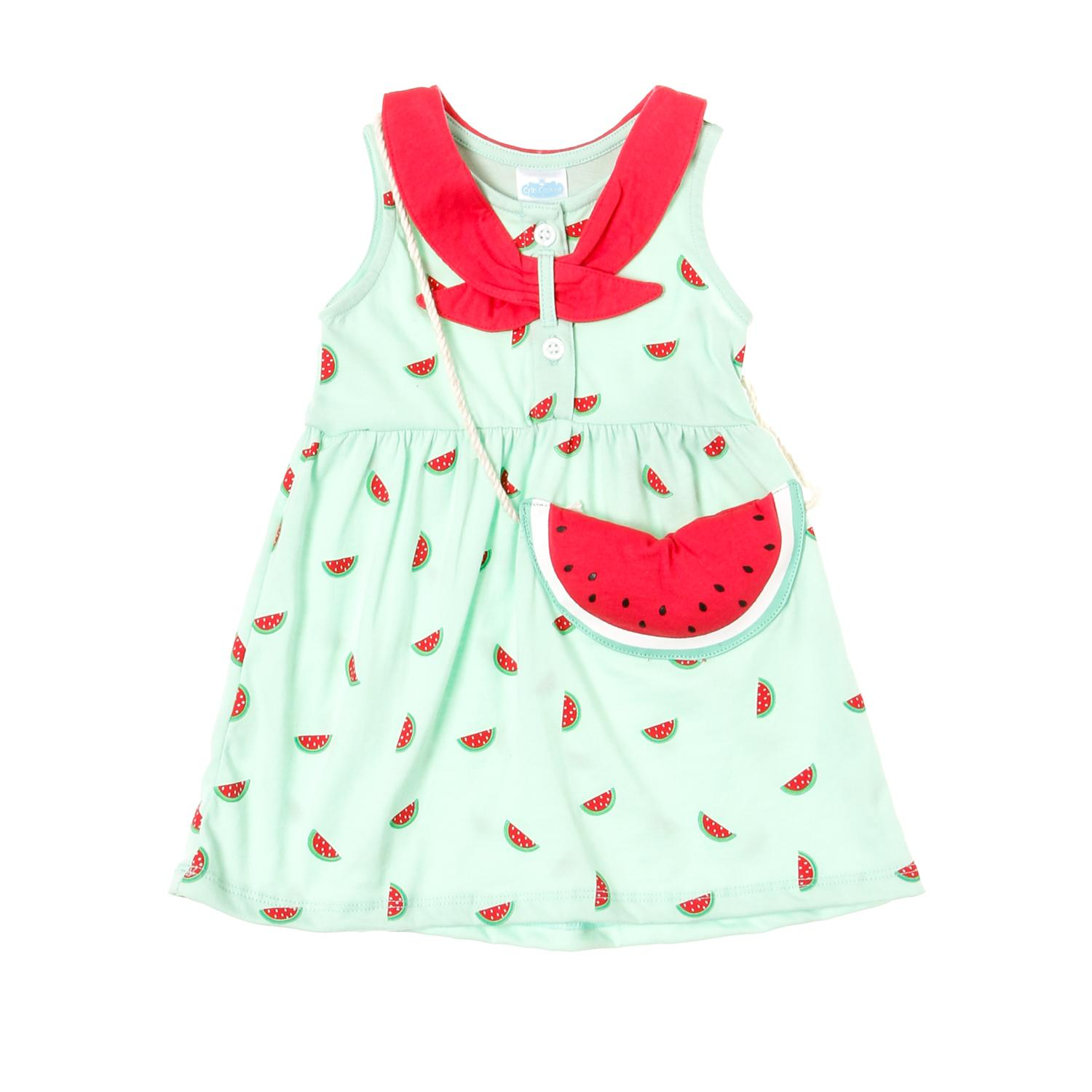Crib Couture Baby Girls Watermelon Bag Pocket Dress In Green By The Sm Store.