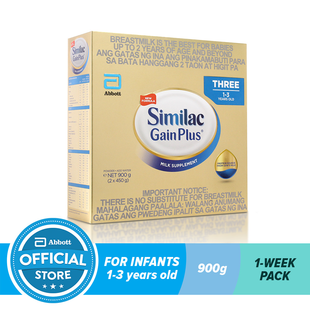 Similac Gainplus Hmo 900g For Kids 1 3 Years Old Lazada Ph