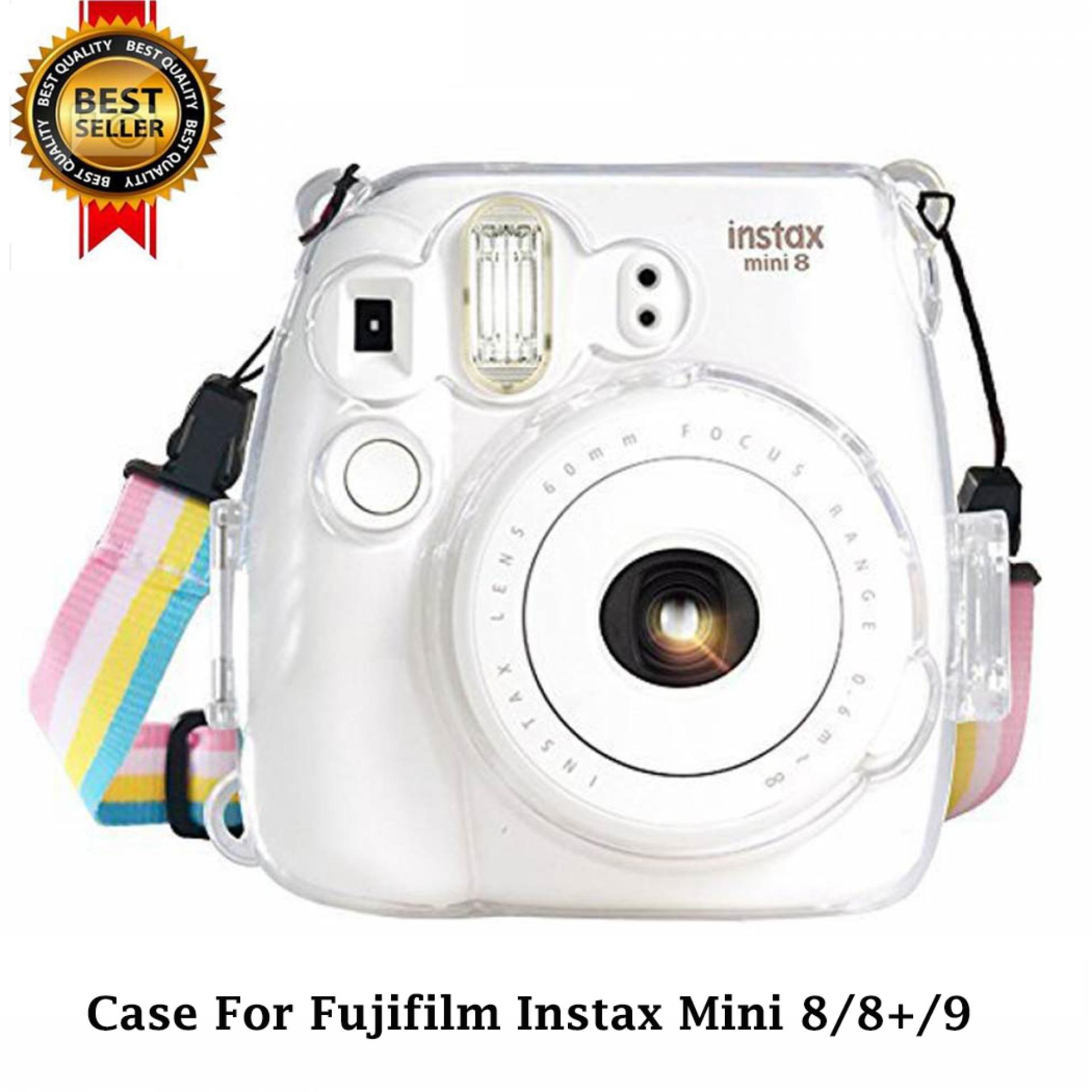 Portable Protective Case Accessory Cover Plastic Storage Bag with Removable Adjustable Shoulder Strap for Fujifilm Instax