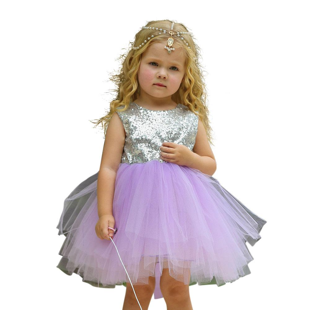 Giá bán HuaX Baby Girls Sequin Princess Dress Tutu Bubble Skirt Performance Costume Children Clothing