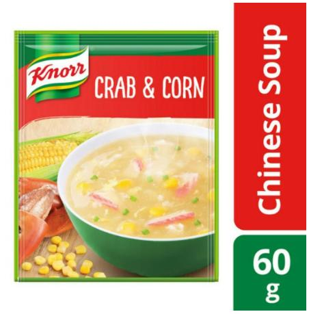 Knorr Soup Crab And Corn 60g (Pack of 6)