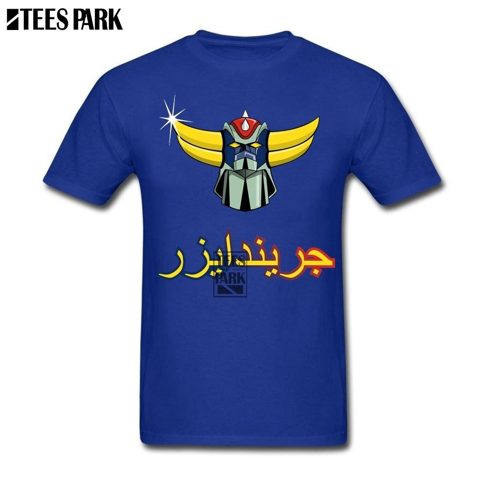 cdf71455c His And Her T Shirts Grendizer UFO Humorous T Shirts Men s 100% Cotton  Short Sleeve
