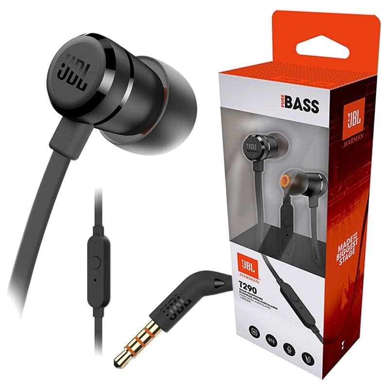 JBL T290 (BLACK) In-ear Headphones Headsets