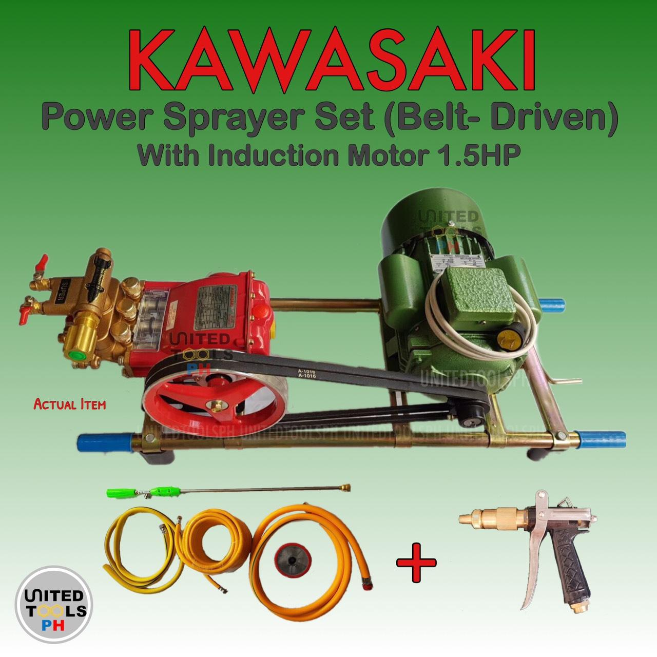 KAWASAKI Power Sprayer w/ Induction Motor 1.5HP (Belt-driven) Philippines