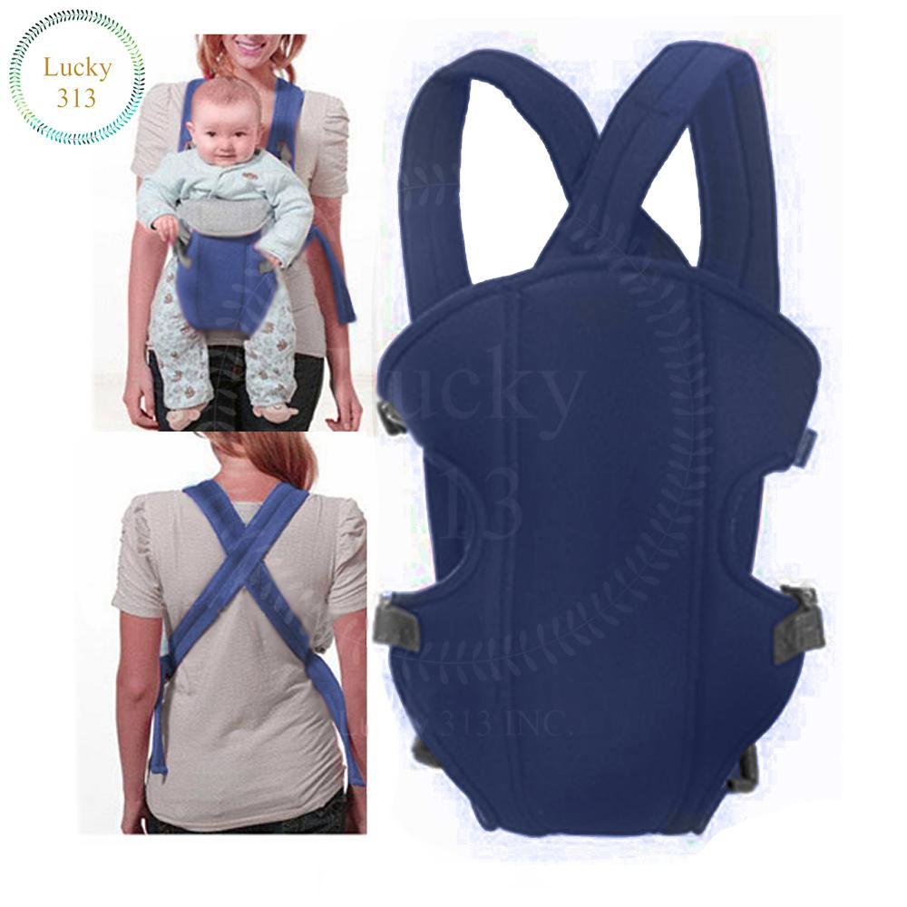 Baby Carrier Sling Wrap Rider Infant Comfort Backpack Dark Blue