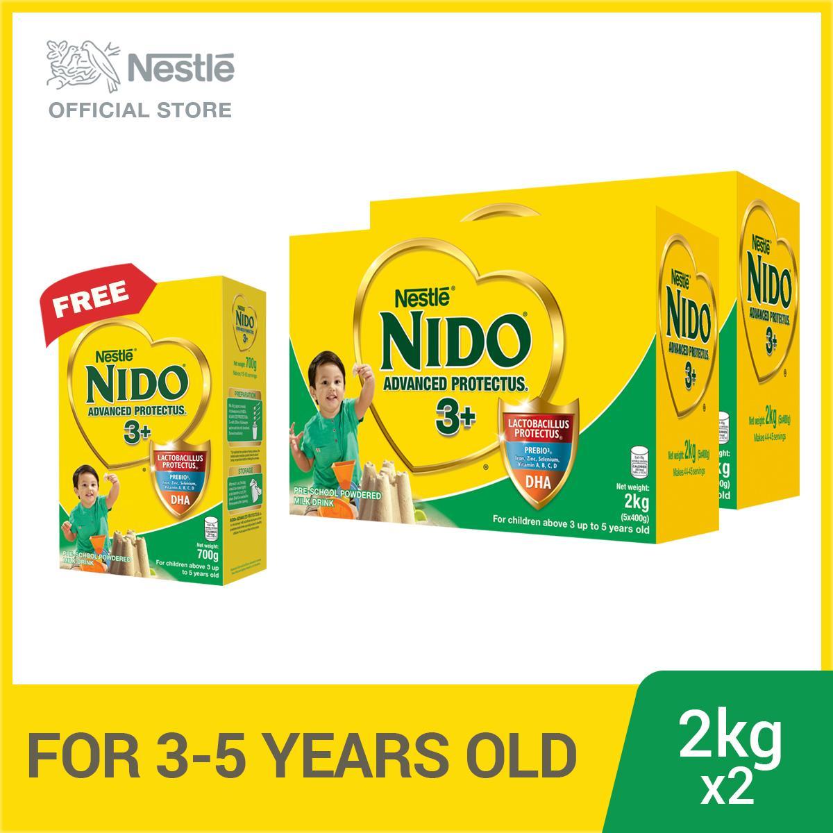 [PACK OF 2] NIDO 3+ Advanced Protectus 2kg, FREE NIDO 3+ 700g