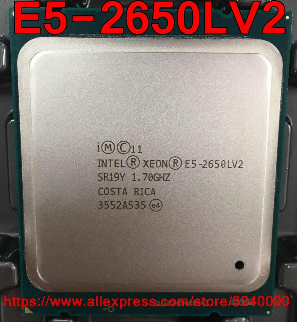 Intel Xeon E5-2650LV2 CPU SR19Y 1 70GHz 10-Core 25M LGA2011 E5 2650LV2 E5  2650L V2 processor E5-2650L V2 ch Store