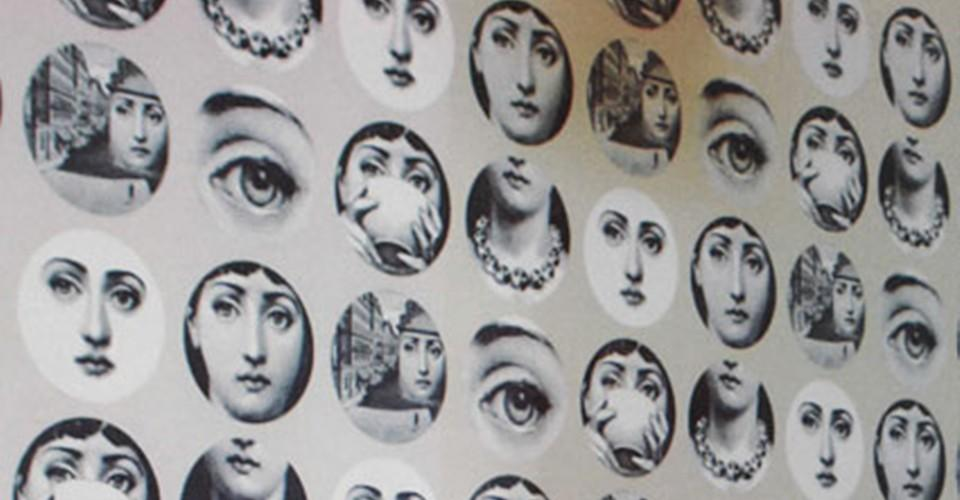 Fornasetti Wall Stickers Decals Separated Painting Portrait Home Decor Wallpaper