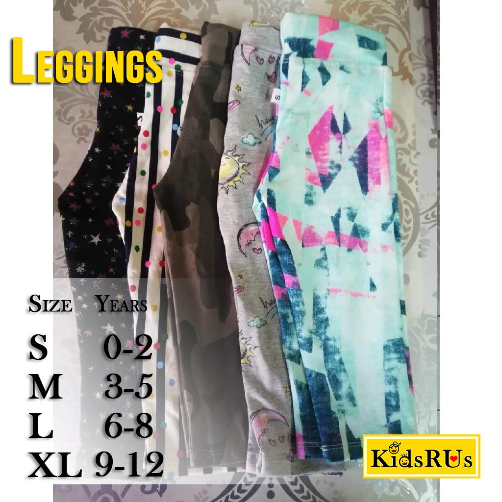 Kids Leggings (assorted Design) By Kidsrus.