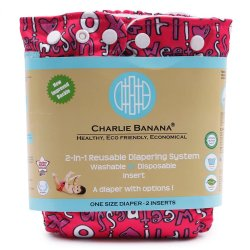Charlie Banana 2-in-1 Cloth Baby Diaper (Cutie Pink)