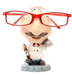 Chef Eyeglass Holder (White)