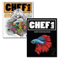 Chef Ink Adult Coloring Book Vol 1 And 2
