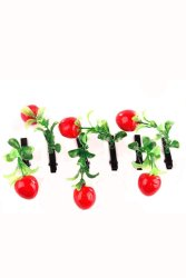 Cherry Hair Clip Set of 6 (Red)