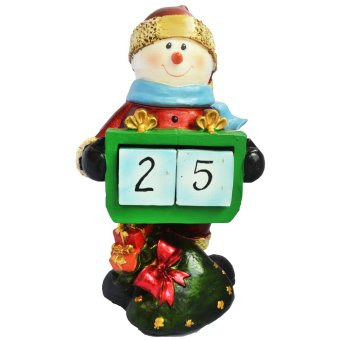 Snowman Santa Claus Countdown to Christmas with two detachable and interchangeable cubes Figurine for the Holiday