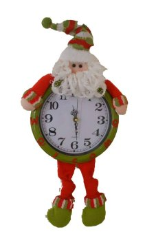 Christmas Fabric Hanging Santa Claus Clock by Everything About Santa (Christmas decoration and gift suggestion)