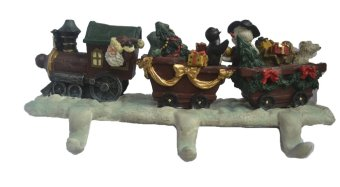 Christmas Train Key Holder - Christmas Decoration and Gift Items (Multicolor)