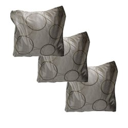 Circle Designed Throw Pillow Case cover Set of 3