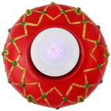 Christmas Classic Table Top Red Candle Holder with glitters Figurine for the Holiday (Made of Fiberglass Resin) by Everything About Santa (Christmas decoration and gift suggestion) - thumbnail 1