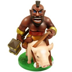 COC Clash of Clans Hog Rider Premium PVC 6.5-inch Action Figure