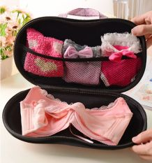 Container Underwear Case Travel Portable Storage Bag Box Protect Bra  Organizer Pink White   Intl